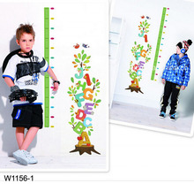 Letter tree growth Kids height measuring Wall Stickers Boy Girl Growth Chart