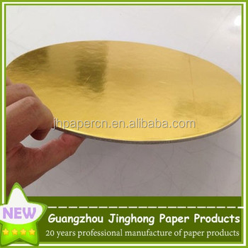 round coated gold cardboard cake pad wholesalers