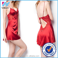 Yihao factory 2015 new designs Fashion sexy nighty women pajamas dress picture design
