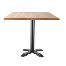 Hot selling wooden fast food table and chairs