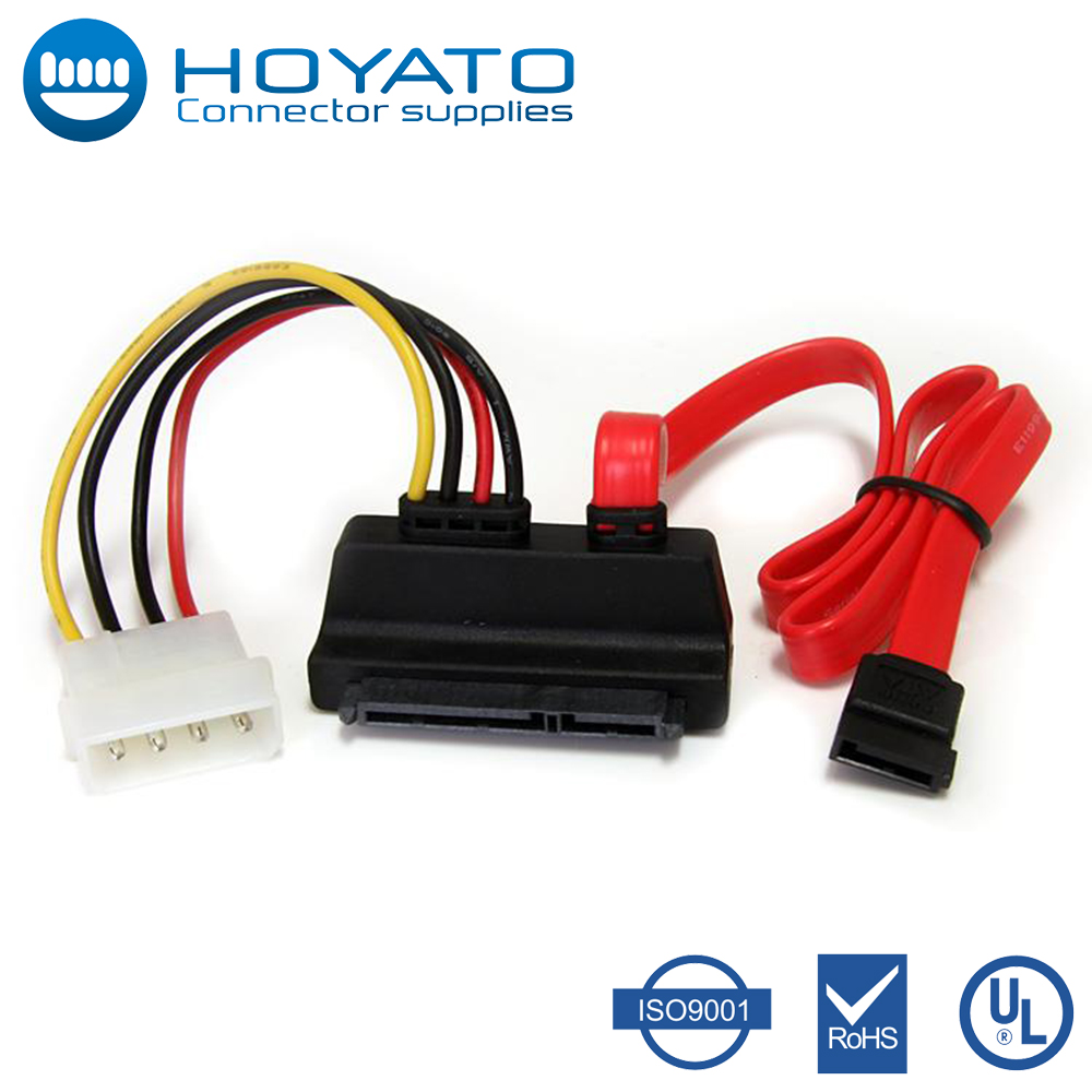 2016 new arrival Sata Female to Molex Male Cable SATA 22pin 7+15pin Female to SATA Female Cable w/ Molex IDE 4Pin