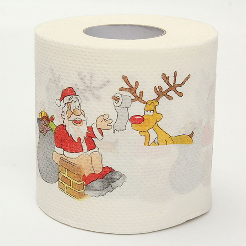 Custom Fancy Christmas Print Toilet Paper