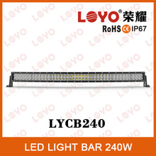 Long time running 240W off road led light bar chips curved 3W offroad led light bar