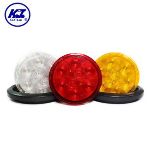 12v led light 6 inch 8 diodes led amber round truck side marker lights