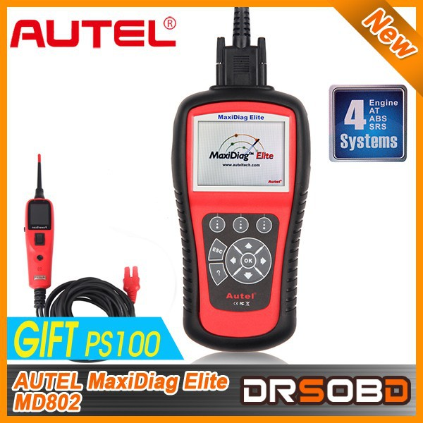 Autel Maxidiag Elite MD802 4 IN 1Autel MD802 scanner for 4 system md701+md702+md703+md704 update from online