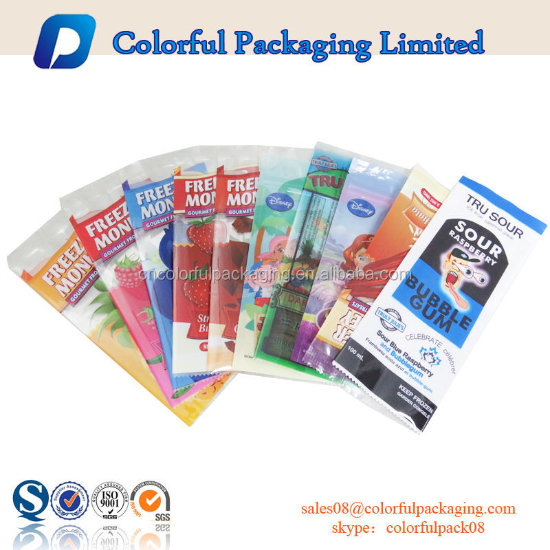 Hight quanlity ODM plastic food packaging bag customized transparent bag popsicle bag