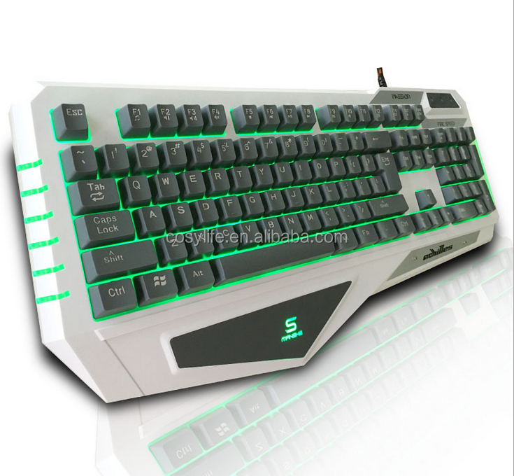 2017 special designed computer mechanical K500 keyboard gaming with colorful backlight
