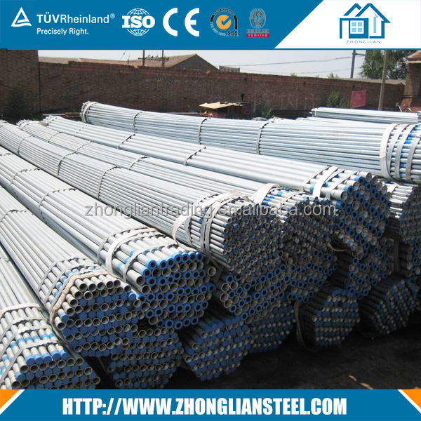 Manufacturer directly supply galvanized welded cold drawn steel pipe for sale
