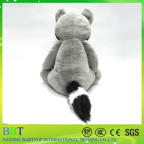 Wholesale sitting mom and baby plush raccoon toy stuffed animal raccoon toy
