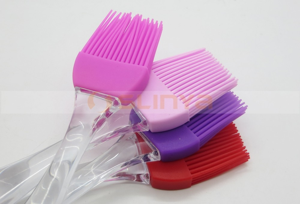 Crystal High Temperature Resistance Barbecue Paint Acrylic Handle Silicone Brush