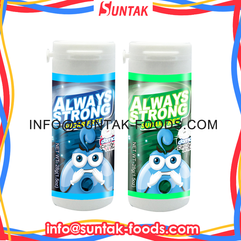 EXTRA ALWAYS STRONG SUGAR FREE MINTS WITH PLASTIC TUBE