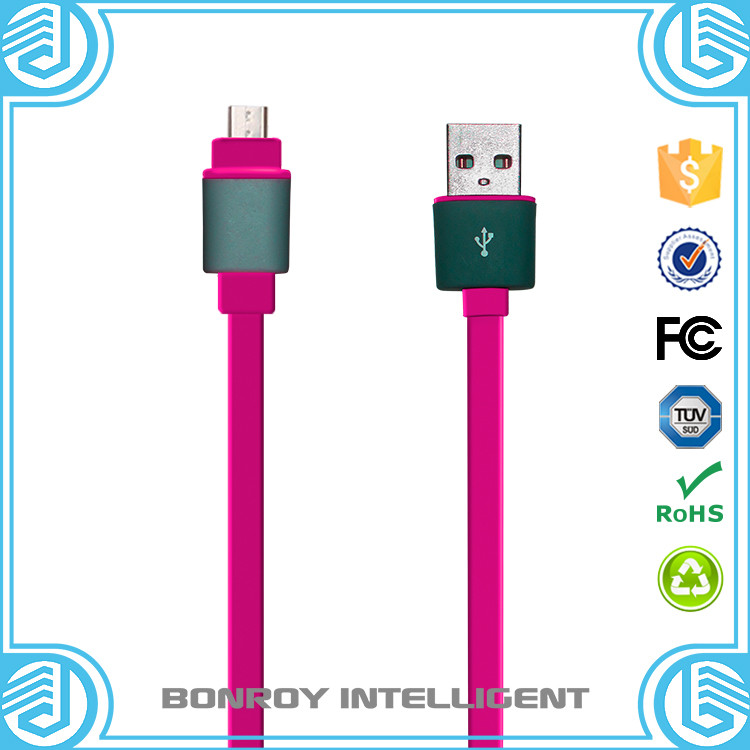 flexible high quality fast charging data sync micro mini android usb cable charger