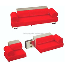 Custom made sofa shape PVC usb flash drive, brand usb sticks 16gb, Bed usb