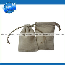 Conference Gift packageing pouch /small jewelry pouches/ linen travel pouch bag