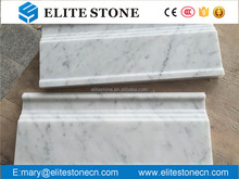 White marble crown moulding,marble skirting Baseboard,skirting Baseboard