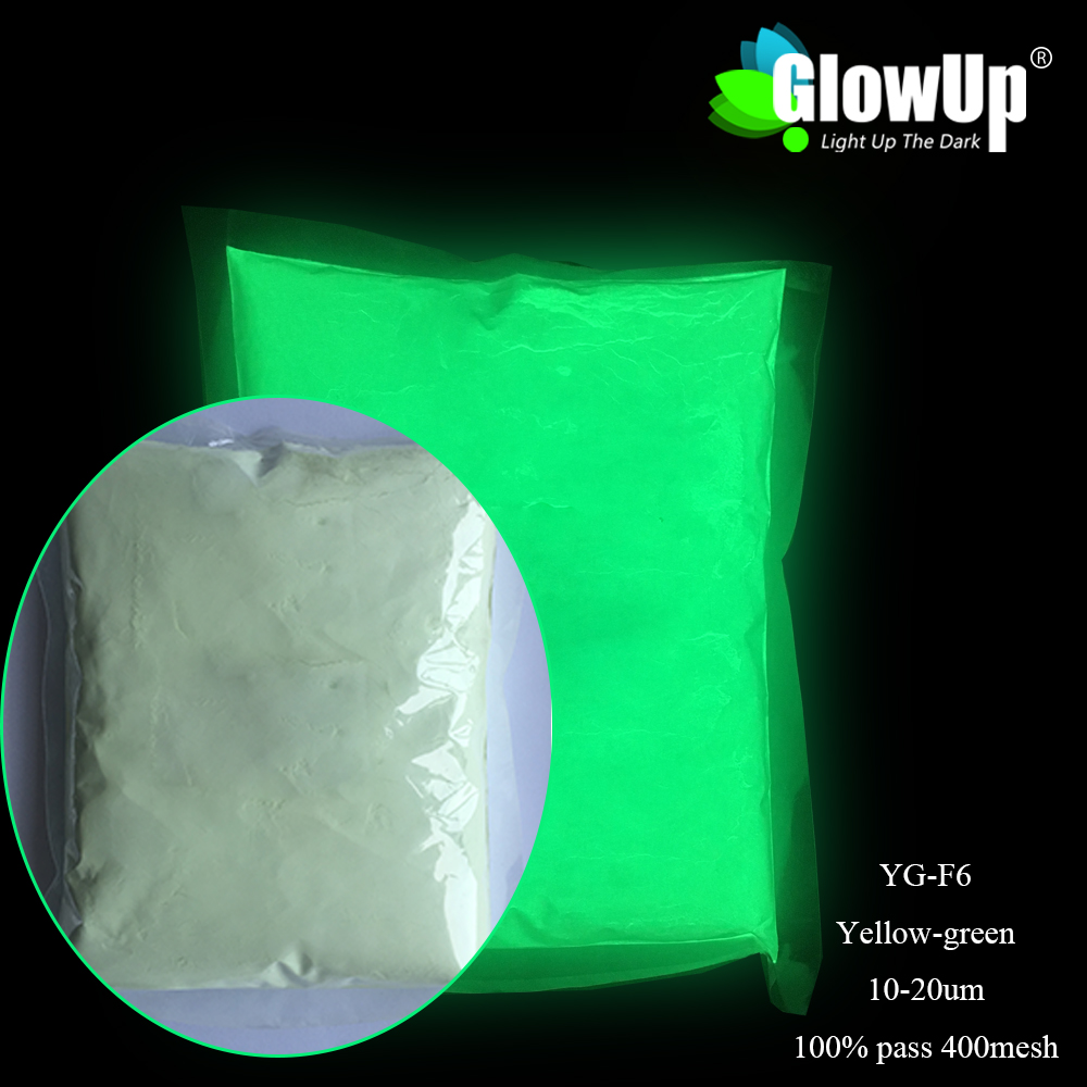 Small Particle Size 10-20um High Brightness Yellow Green color Luminous Pigment water-proof and high temperature glow powder