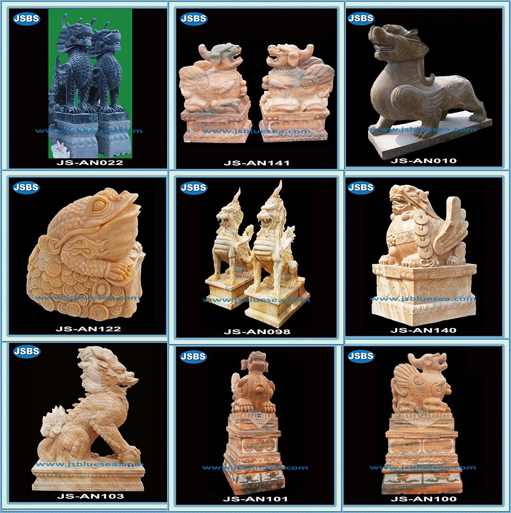 outdoor hand polishing life-size marble lion statues