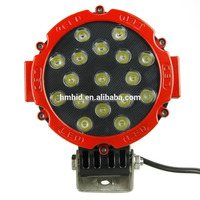 New high quality led work light for offroad cars led light round 17 Pieces 51w work light led
