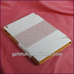 White PU stitching custom smart cover for ipad