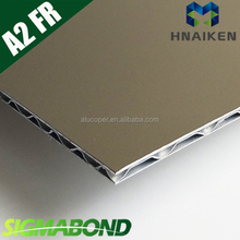 SIGMABOND exterior wall cladding sheet metal A2 level fire resistant aluminum composite panel