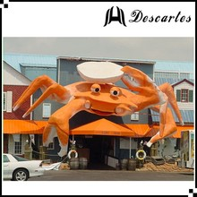 Resturant decorative PVC sea crab/giant inflatable crab cartoon for decoration