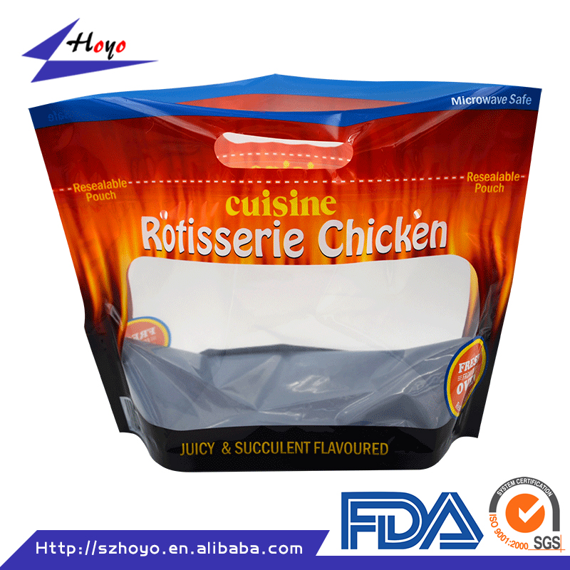 Self Standing Clear Poly Bag for Chicken Jerky with Logo Printing