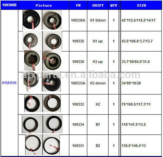 01M Automatic Transmission Piston Kit