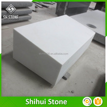 Natural Stone Mashinery Cutting White Marble Tombstone