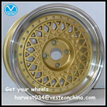 Gold deep dish alloy rims