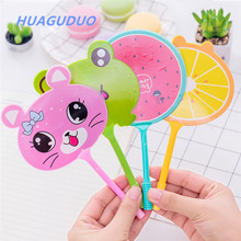 Thailand kawaii stationery Wholesale Creative Kid Gift Plastic Low Price fan design best <strong>flat</strong> ballpoint pen personalised pens