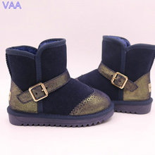 Wholesale cute children snow boots shoes, winter kids fur boots in stock JLX-GAR-15