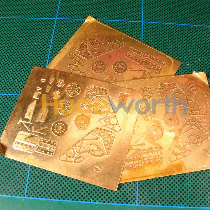 Promotional design metal copper photo etching plate with self-adhesive