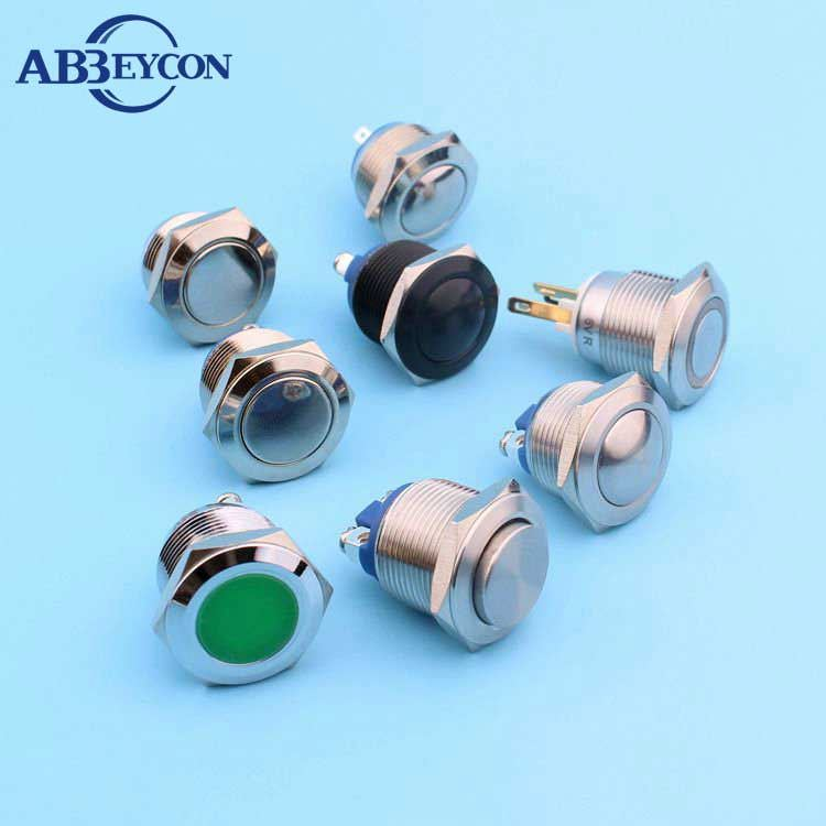 16mm metal LED head illuminated IP67 push button switch protective cover