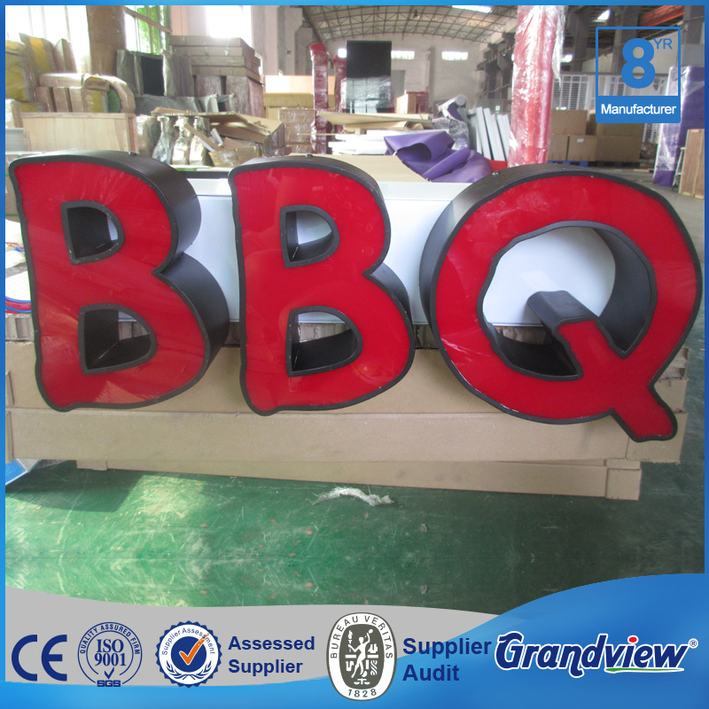 Outdoor store front acrylic logo wall letter sign