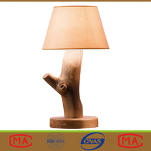 New Design Solid Wood Natural Bedroom Hotel Bedside Table Lamps