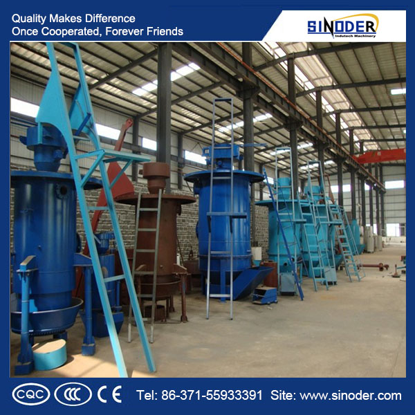 biomass gasifier power plant uses air and vapor as the gasifying agents to produce mixed gas.
