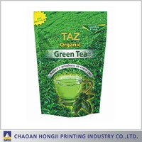 Plastic tea packaging stand up pouch/tea zipper bag/tea ziplock pouch