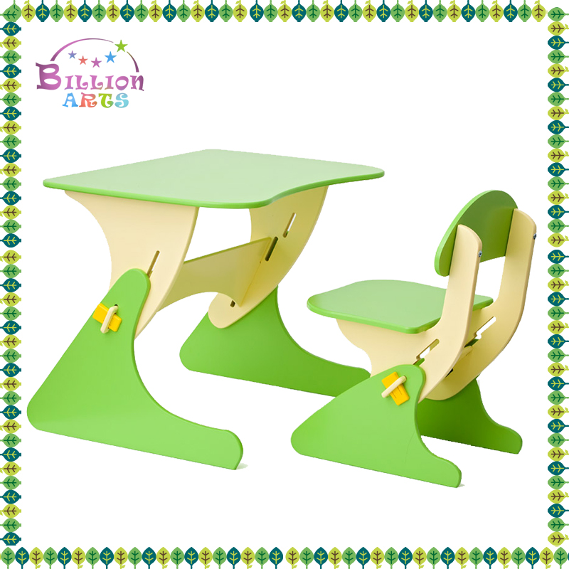 high quality cheap green wood childrens table and chair sets