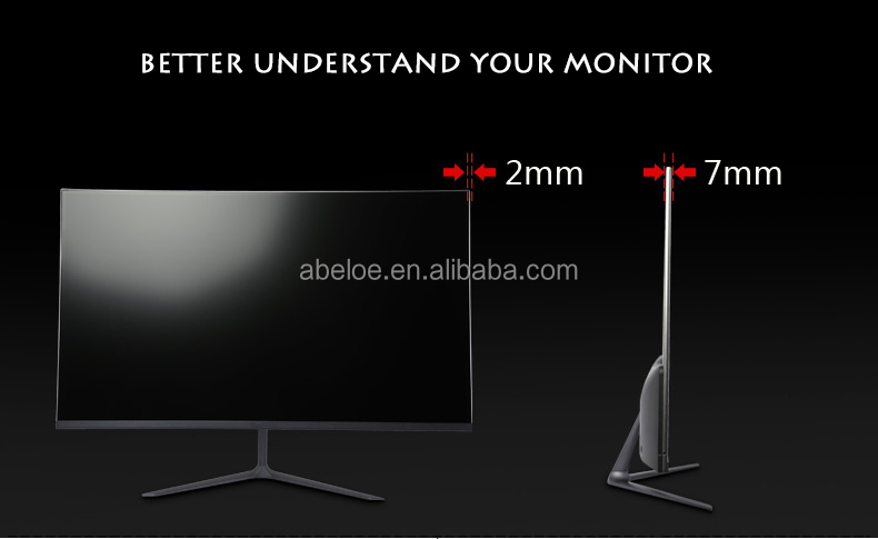 Ultra thin 27'' inch LED 2K 144hz desktop computer 144Hz gaming monitor