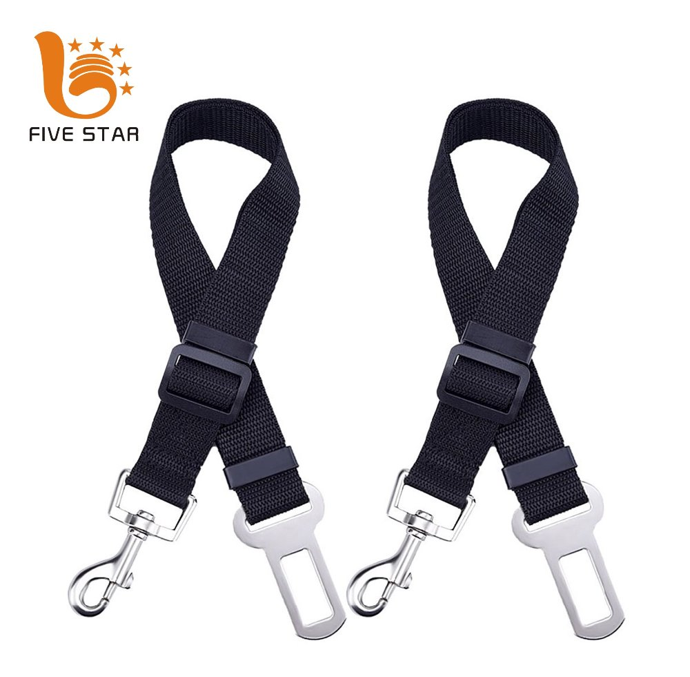 Five Star Durable Nylon Adjustable Size Safety Leash Leads Car Pet Dog Seat Belt
