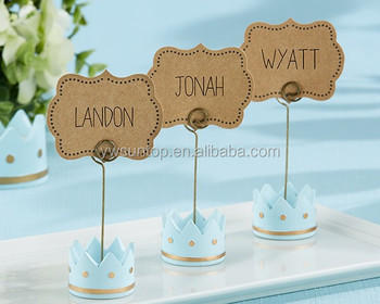 Little Prince Crown Place Card Holders kinder name card holder favors
