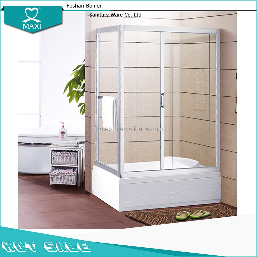 M-1017 glass shower room rectangle shower enclosure aluminum shower screen