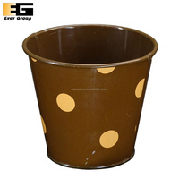 Small Decoration Flower Metal Pot