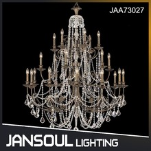 JANSOUL high end vintage old style big size crystal pendant light cristal chandelier