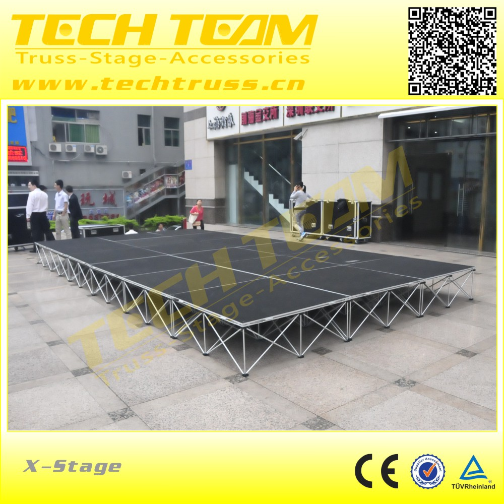 layer stage system , mobile stage