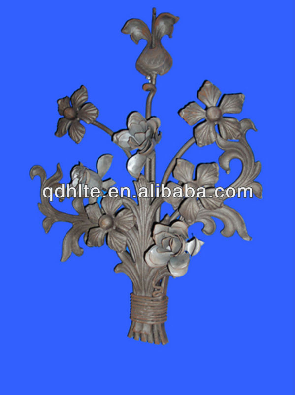 hot sales wrought iron rosette for stair railing /gate/fence