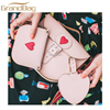 genuine leather promotional gift lady satchel bags accessories set collection travel luggage Tag coin purse clutch bag