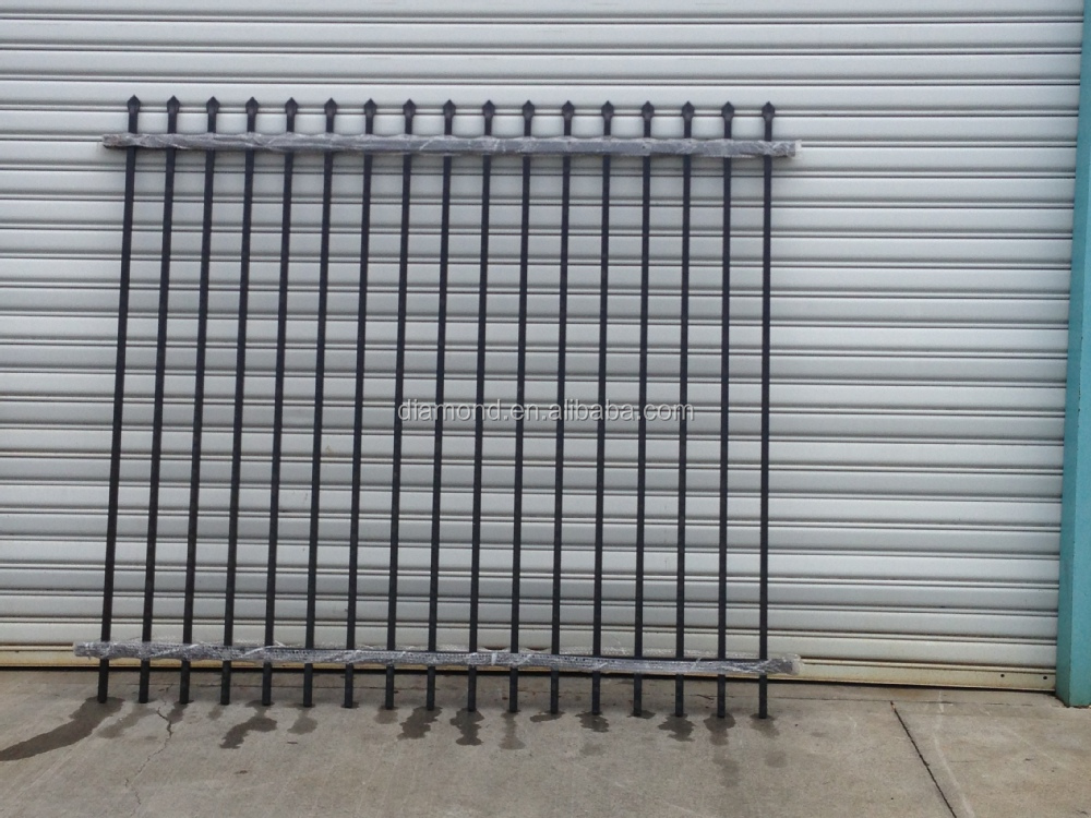 Steel picket fence square posts designs for
