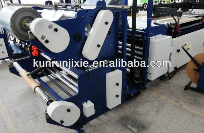 High-speed double lines disposable medical packing plastic bag making machine