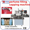 Shanghai manufacture 50-200ml small bottle automatic perfume/spray liquid filling capping labeling machine/0086-18516303933